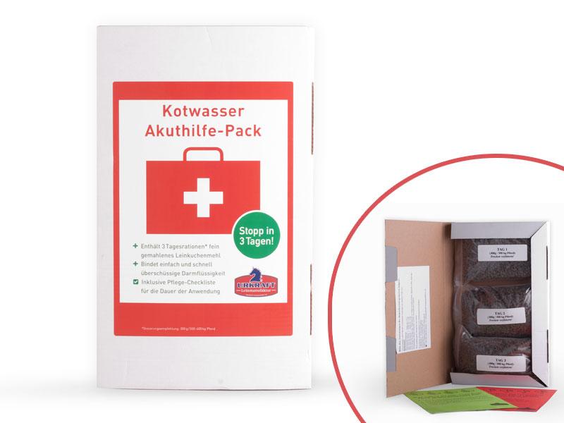 pferd kotwasser akuthilfe pack stop in 3 tagen urkraft leinmanufaktur. Black Bedroom Furniture Sets. Home Design Ideas